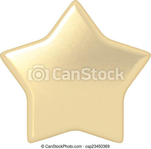 Estrella de oro - csp23450369