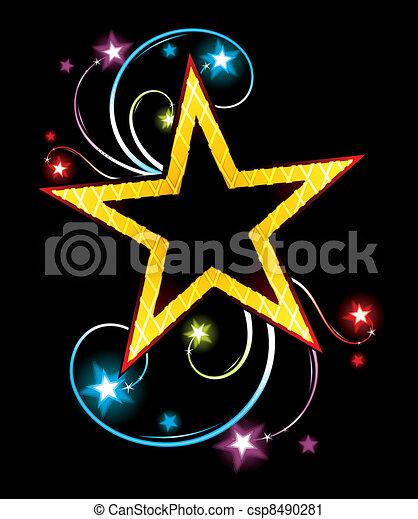 Estrella de oro - csp8490281