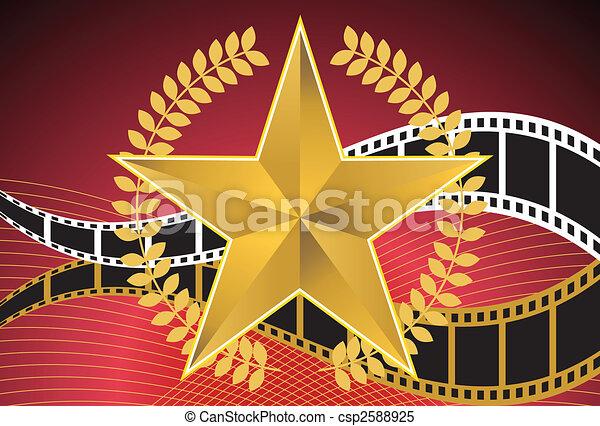 Estrella de oro - csp2588925