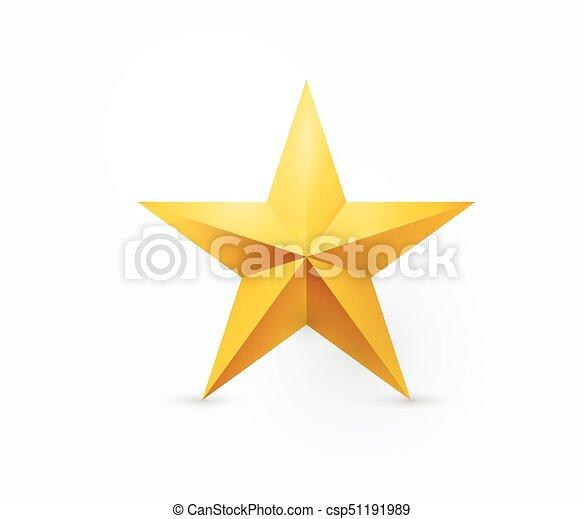 Ilustración de vectores de cinco puntas de estrella de metal - csp51191989