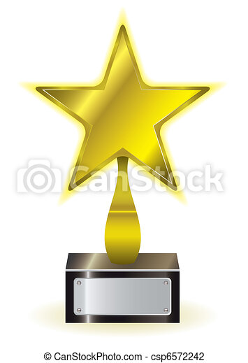 Premio a la estrella de oro - csp6572242