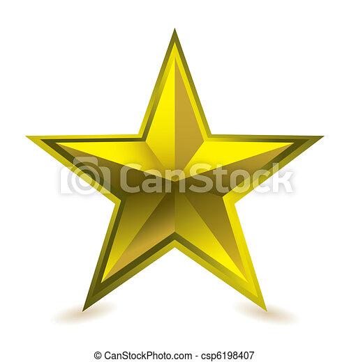 Premio a la estrella de oro - csp6198407