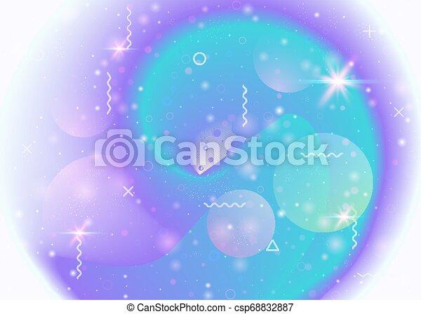 El fondo del universo con galaxias y formas cosmos y polvo de estrellas. - csp68832887