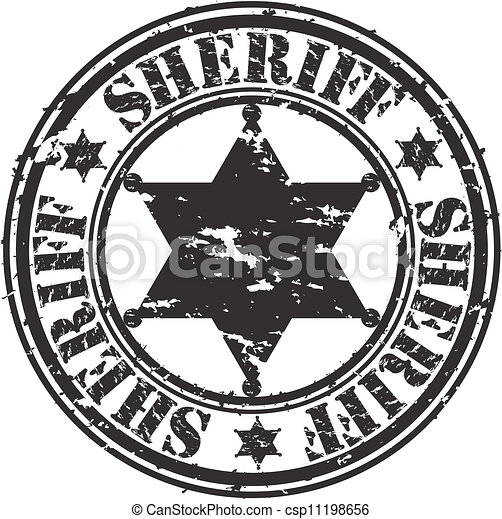 Grunge sheriff estrella, vector - csp11198656