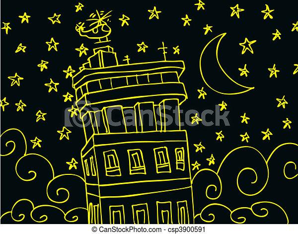 estrellado, noche - csp3900591