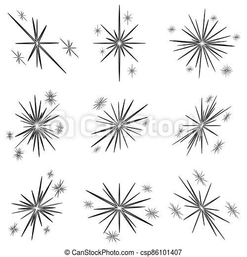estrellas, brillante, conjunto, navidad - csp86101407