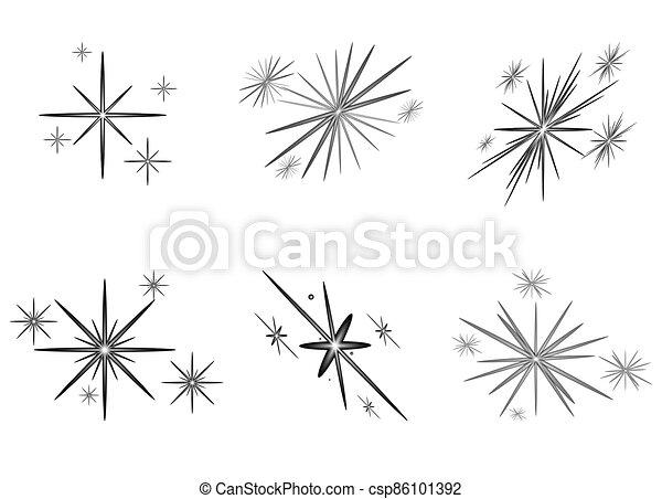 estrellas, brillante, conjunto, navidad - csp86101392