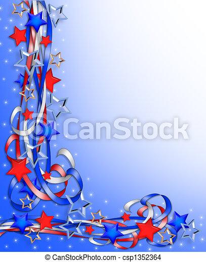 Estrellas patrióticas y rayas - csp1352364
