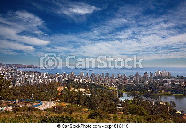 estropear, vina, del, valparaiso, chile, vista - csp4816410
