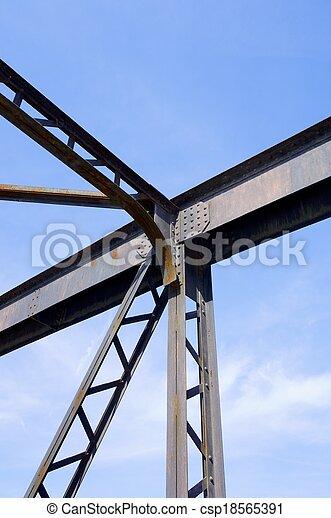 Estructura de metal Puente metal detalle estructura