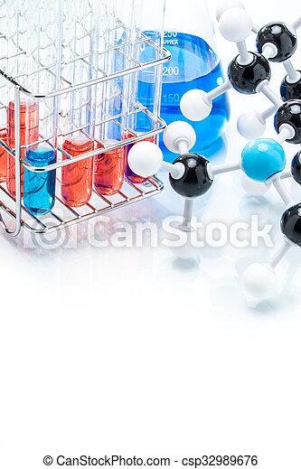 Estructura Molecular Colorido Líquido