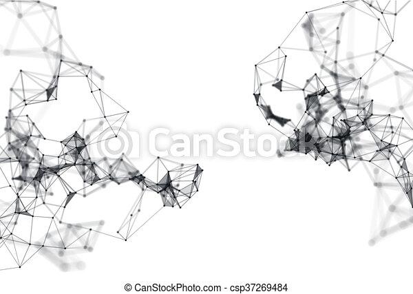 Estructura Molecular Abstracta Sobre Fondo Blanco