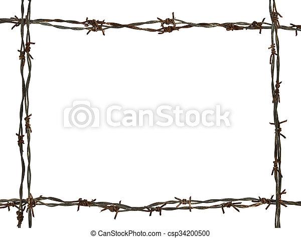 Frame hecha de alambre de púas - csp34200500