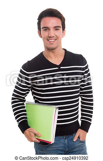 estudante, feliz - csp24910392