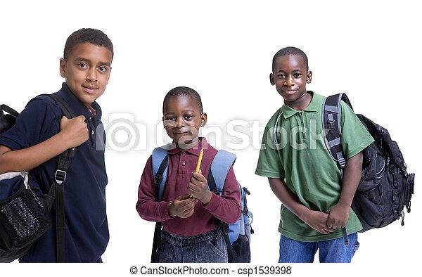 estudantes, americano, africano - csp1539398