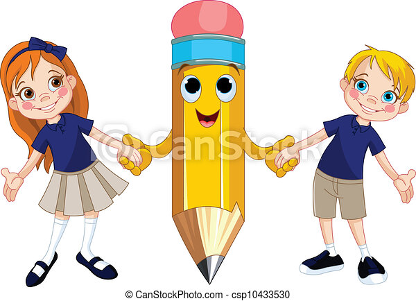 estudantes, lápis - csp10433530