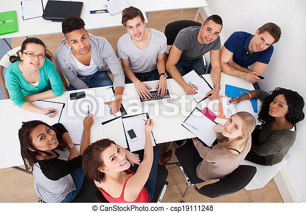 estudantes, universidade, grupo, estudo - csp19111248