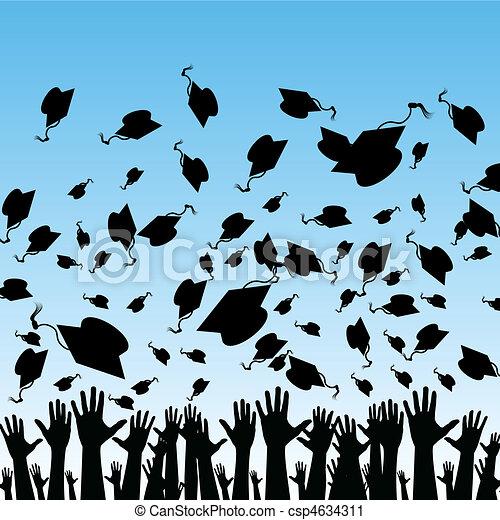 Estudiantes graduándose - csp4634311