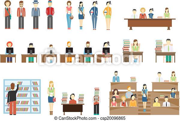 Estudiantes en la universidad - csp20096865