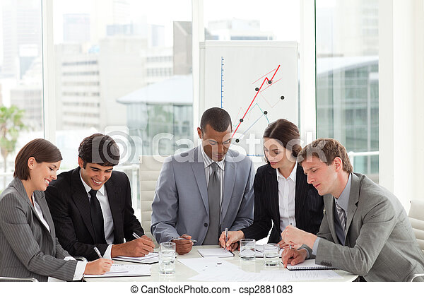 estudiar, equipo, presupuesto, plan trabajo empresa - csp2881083