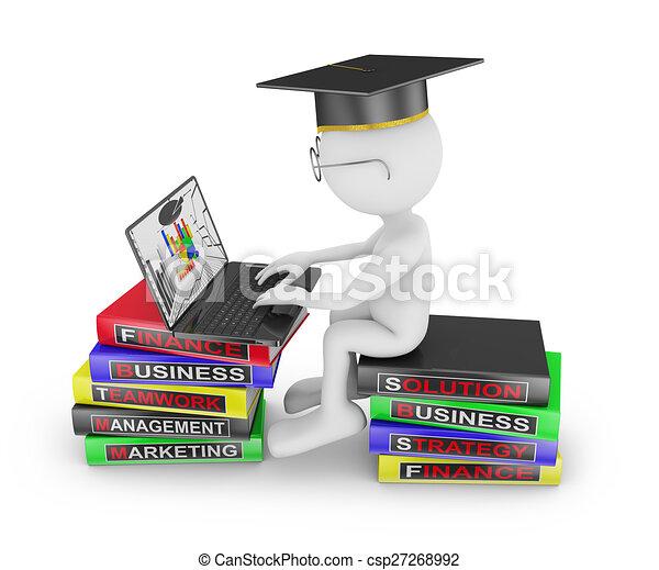 Hombre estudiando negocios - csp27268992