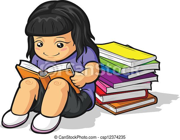 Estudiar ni a caricatura estudiante y tama o for Estudiar jardineria