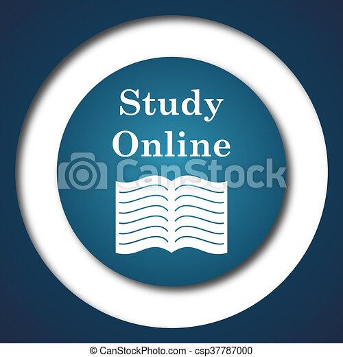 Estudia icono online - csp37787000