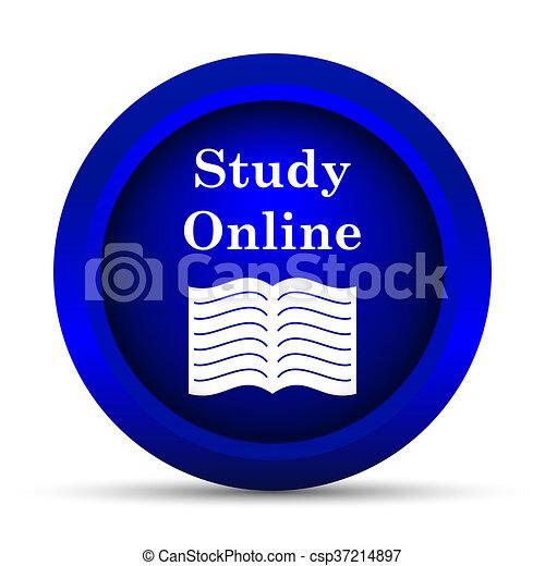 Estudia icono online - csp37214897