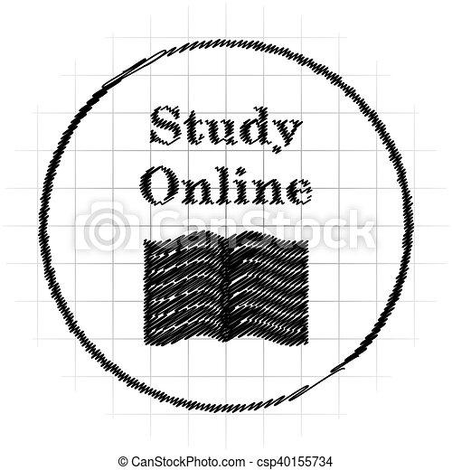 Estudia icono online - csp40155734