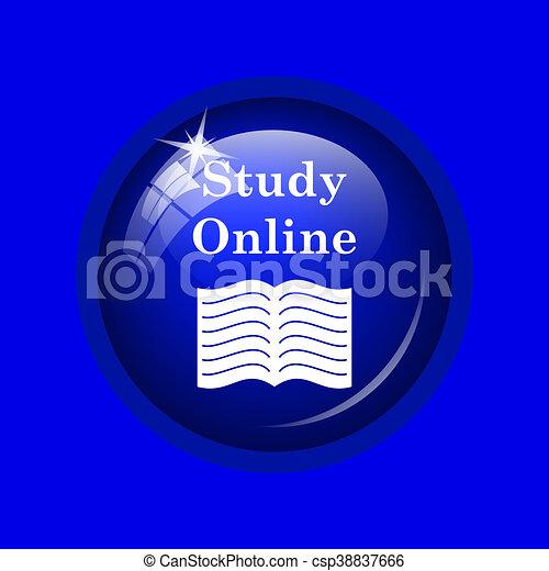 Estudia icono online - csp38837666