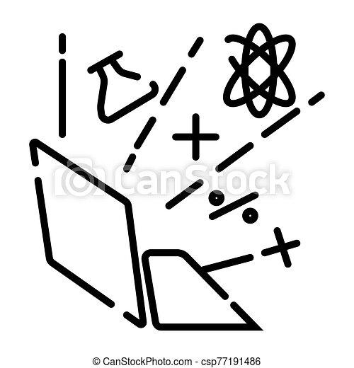 estudio, en línea, icono - csp77191486