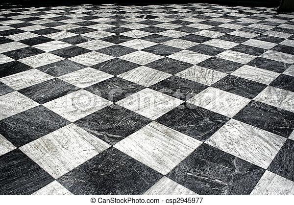 Et blanco m rmol negro piso piso patr n checquered for Piso de marmol negro