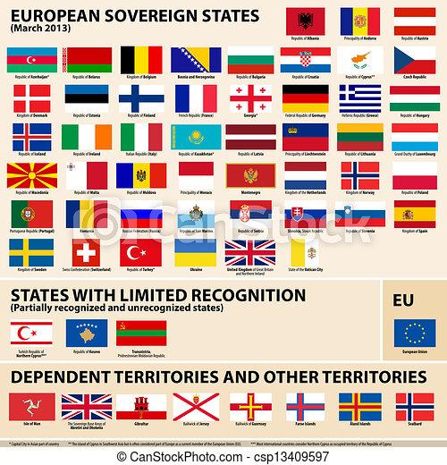 etats, drapeaux, europena - csp13409597