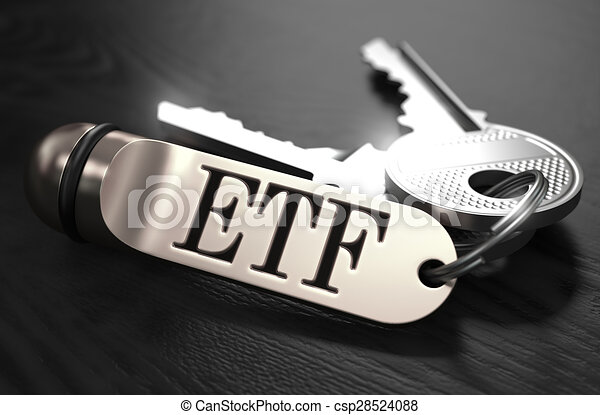 ETF Concept. Keys with Keyring. - csp28524088