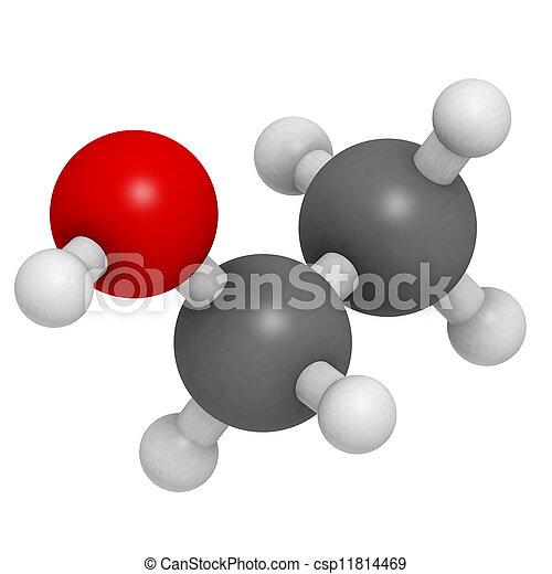 Ethanol Etoh Alcohol Molecule Chemical Structure Ethanol Etoh