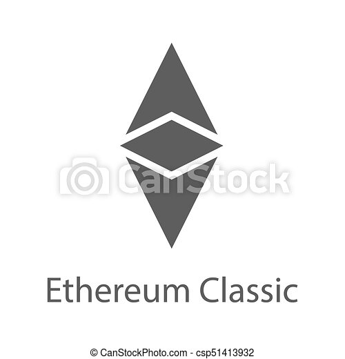 Ethereum Classic Icon For Internet Money Crypto Currency Symbol Blockchain Based Secure