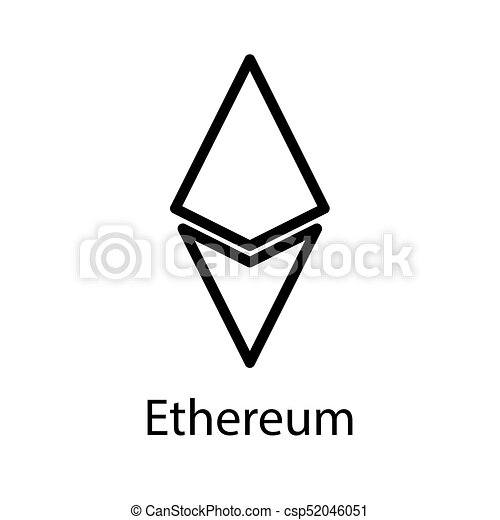 Ethereum Icon For Internet Money Crypto Currency Symbol Blockchain Based Secure Cryptocurrency