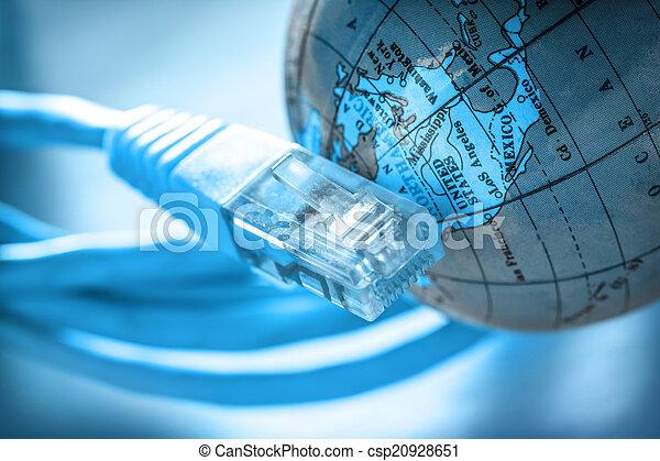 ethernet, erdball, kabel - csp20928651