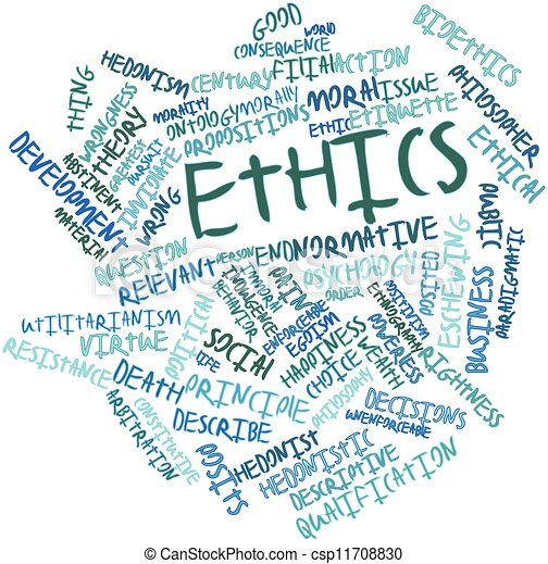terms related to ethics Glossary of commonly used terms in research ethics  in research, complying  with laws, institutional policies and ethical guidelines related to research.