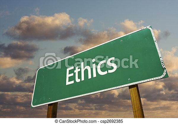 Ethics Green Road Sign - csp2692385