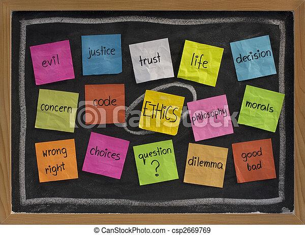 ethics word cloud - csp2669769