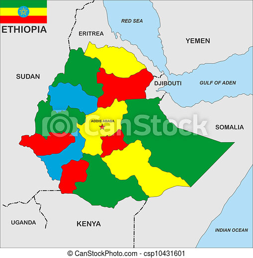 Ethiopia map Very big size ethiopia country political map
