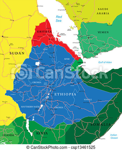 Ethiopia map - csp13461525