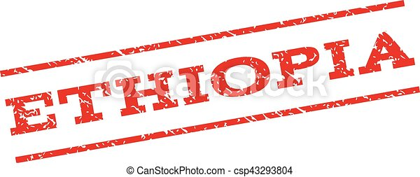 Ethiopia Watermark Stamp - csp43293804