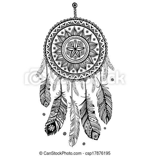 Ethnic American Indian Dream catcher - csp17876195