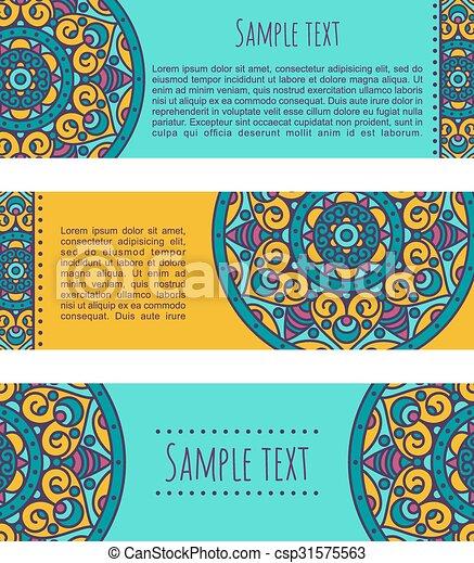 ethnic banners - csp31575563
