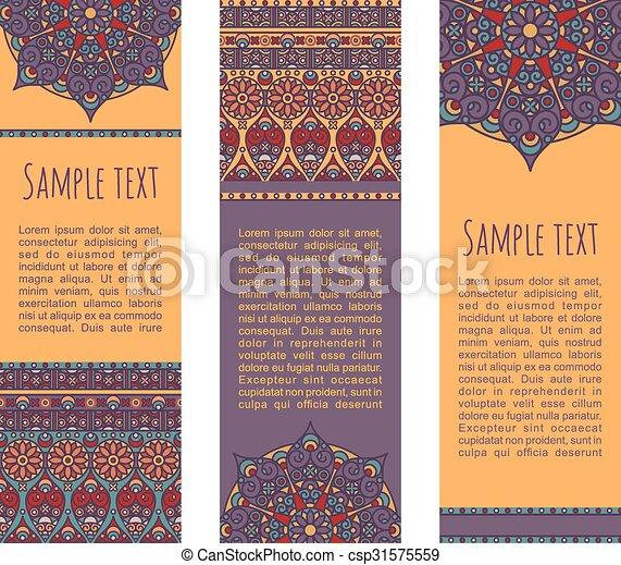 ethnic banners - csp31575559