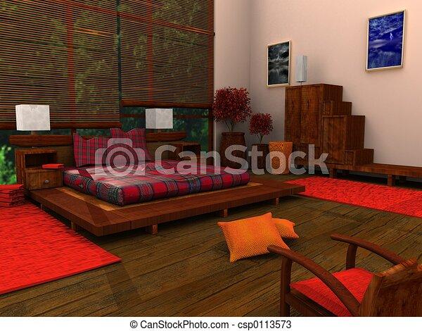 Ethnic Bedroom - csp0113573