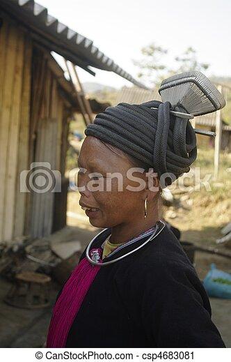 Ethnic black Dao female - csp4683081