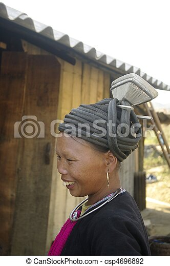 Ethnic black Dao female - csp4696892